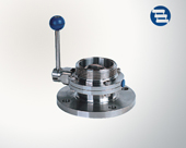 Flanged/tbreaded butterfly valve