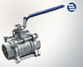 Three piece type internal thread ball valve