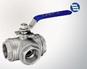 Three internal thread ball valve