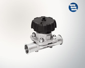 Straight-through diaphragm valve