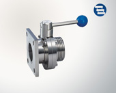 Flange/threaded butterfly valve