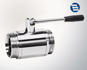 Straight thread ball valve