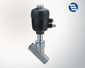 Pneumatic threaded angle seat valve