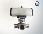 Horizontal pneumatic ball valve