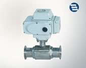 Electric direct way ball valve