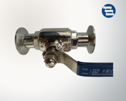 Direct way ball valve