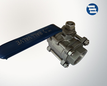 Three-piece ball valve
