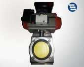 Horizontal actuator butterfly valve